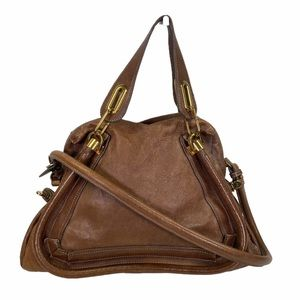 Chloe Tote bag Paraty Brown leather